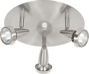 Access 52221LEDDLP-BS Mirage Contemporary Brushed Steel LED Flush Mount Ceiling Light Fixture