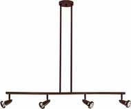 Access 52224-BRZ Mirage Contemporary Bronze Halogen 4-Light Track Lighting Kit