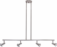 Access 52224-BS Mirage Contemporary Brushed Steel Halogen 4-Light Track Light