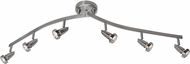 Access 52226-BS Mirage Modern Brushed Steel Halogen 6-Light Track Lighting Kit