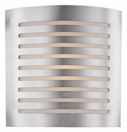 Access 53340 Krypton Contemporary 2 Light 12 inches wide Wall Sconce in Brushed Steel