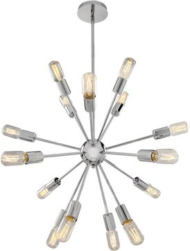 Access 55542-CH Flux Modern Chrome Chandelier Lighting