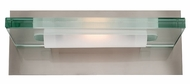 Access 62091-BS Vision Clear Plate Glass Vanity Light