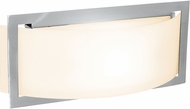 Access 62104LED-BS-OPL Argon Contemporary Brushed Steel LED 12  Bathroom Wall Light Fixture