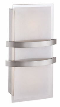 Access 62218-BS-OPL Metro Brushed Steel 14 Inch Wide Wall Sconce Lighting