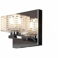 Access 62280-CH-CLFR Sophie Contemporary Chrome Finish 4.75 Wide Halogen Wall Sconce Lighting