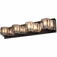 Access 62289-CH-CRY Evia Contemporary Chrome Finish 26 Wide Halogen 4-Light Vanity Light Fixture