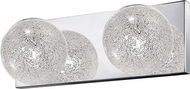 Access 62322-MSS-CLR Opulence Contemporary Mirrored Stainless Steel 2-Light Bathroom Lighting