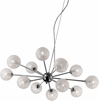Access 62327-CH-CLR Opulence Modern Chrome Halogen Chandelier Light