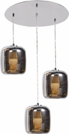 Access 62341LEDDLP-MSS-SMAMB Dor Contemporary Mirrored Stainless Steel LED Multi Hanging Light