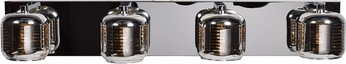 Access 62347LEDDLP-MSS-SMAMB Dor Contemporary Mirrored Stainless Steel LED 4-Light Lighting For Bathroom