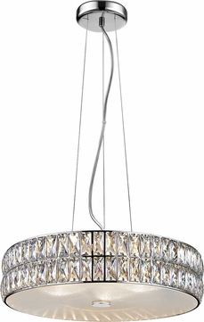 Access 62359LEDD-MSS-CRY Magari Mirrored Stainless Steel LED Medium Drum Hanging Pendant Lighting