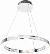 Access 62455LEDD-CH-CCL Affluence Contemporary Chrome LED 24  Hanging Pendant Lighting