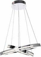 Access 62458LEDD-CH-CCL Affluence Contemporary Chrome LED Hanging Pendant Light