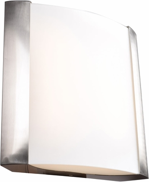 Access 62485LEDD-BS-OPL West End Contemporary Brushed Steel LED Medium Wall Light Fixture