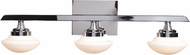 Access 62492LEDD-CH-OPL Atomiser Contemporary Chrome LED 3-Light Bathroom Lighting Sconce