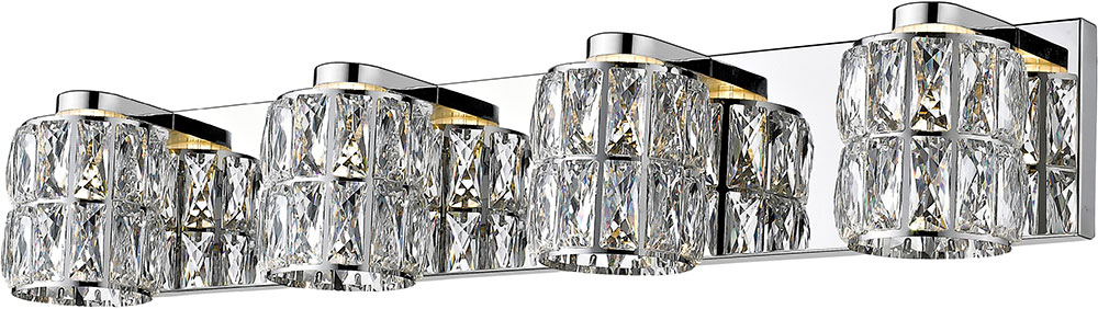 new product d62e4 440f4 Access 62554LEDD-MSS-CCL Ice Mirrored Stainless Steel LED 3-Light Bathroom  Lighting Fixture