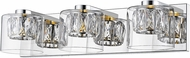 Access 62556LEDD-MSS-CCLCLR Private Collection Mirrored Stainless Steel LED 2-Light Vanity Lighting