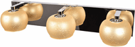 Access 62559LEDDLP-MSS/STARRY Galaxy Contemporary Mirrored Stainless Steel LED 3-Light Vanity Light