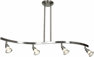 Access 63054LEDD-MC-ACR Optix Contemporary Matte Chrome & White Acrylic LED Kitchen Island Lighting