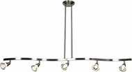 Access 63055LEDD-MC-ACR Optix Modern Matte Chrome & White Acrylic LED Kitchen Island Light