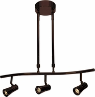 Access 63063LEDD-BRZ Sleek Contemporary Bronze LED 3-Light Track Lighting
