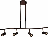 Access 63064LEDD-BRZ Sleek Contemporary Bronze LED 4-Light Track Lighting Fixture