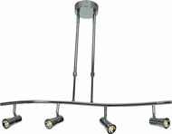 Access 63064LEDD-BS Sleek Modern Brushed Steel LED 4-Light Home Track Lighting