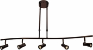 Access 63065LEDD-BRZ Sleek Contemporary Bronze LED 5-Light Track Lighting Kit