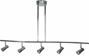 Access 63065LEDD-BS Sleek Modern Brushed Steel LED 5-Light Track Lighting