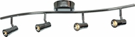 Access 63067LEDD-BS Sleek Modern Brushed Steel LED 4-Light Track Lighting Kit