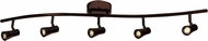 Access 63068LEDD-BRZ Sleek Contemporary Bronze LED 5-Light Track Lighting