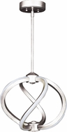 Access 63110LEDD-BS Vortex Modern Brushed Steel LED 14  Ceiling Light Pendant