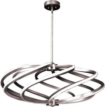 Access 63112LEDD-BS Vortex Contemporary Brushed Steel LED 33  Pendant Lighting