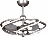 Access 63113LEDD-BS Vortex Contemporary Brushed Steel LED 27.5  Ceiling Fan