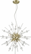 Access 63121LEDDLP-ABRZ-CLR Burst Modern Antique Bronze LED Pendant Lighting Fixture