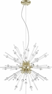 Access 63122LEDDLP-ABRZ-CLR Burst Modern Antique Bronze LED Hanging Pendant Light