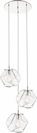 Access 63127LEDDLP-MSS-CLR Boulder Modern Mirrored Stainless Steel LED Multi Drop Lighting