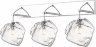 Access 63130LEDDLP-MSS-CLR Boulder Contemporary Mirrored Stainless Steel LED 3-Light Bathroom Lighting