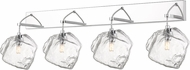 Access 63131LEDDLP-MSS-CLR Boulder Modern Mirrored Stainless Steel LED 4-Light Lighting For Bathroom