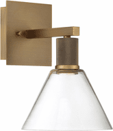 Access 63143LEDD-ABB/CLR Port Nine Contemporary Antique Brushed Brass LED Lamp Sconce