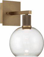 Access 63145LEDD-ABB/CLR Port Nine Contemporary Antique Brushed Brass LED Wall Lamp