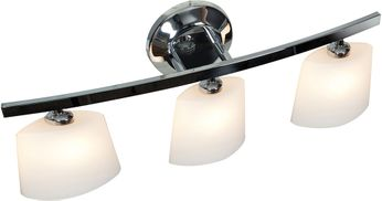 Access 63813-20-CH-OPL Sydney Contemporary Chrome Halogen 3-Light Bathroom Light Sconce