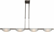 Access 63958LEDD-MC-FST Nido Contemporary Matte Chrome LED 42.5  Kitchen Island Light