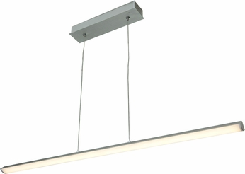 Access 63963LEDD-SILV-ACR Float Contemporary Silver & White Acrylic LED Island Light Fixture