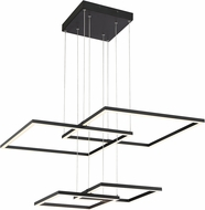 Access 63968LEDD-BL-ACR Squared Contemporary Black LED Ceiling Light Pendant