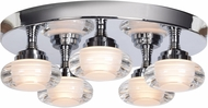 Access 63979LEDD-CH-ACR Optix Modern Chrome LED Ceiling Light Fixture