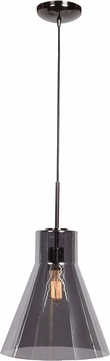 Access 63992-BCH-SMK Simplicite Modern Black Chrome Drop Lighting Fixture