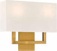 Access 64062LEDDLP-ABB/WH Mid Town Antique Brushed Brass LED Lighting Wall Sconce