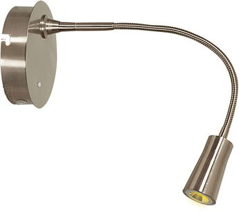 Access 70003LED-BS Epiphanie Modern Brushed Steel LED Swing Arm Wall Lamp
